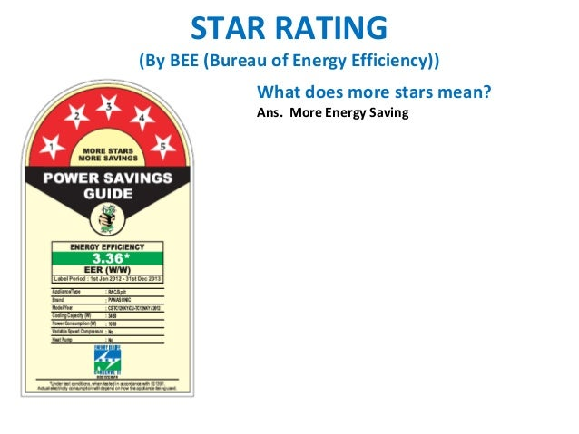 STAR RATING(By BEE (Bureau of Energy Efficiency))              What does more stars mean?              Ans. More Energy Sa...