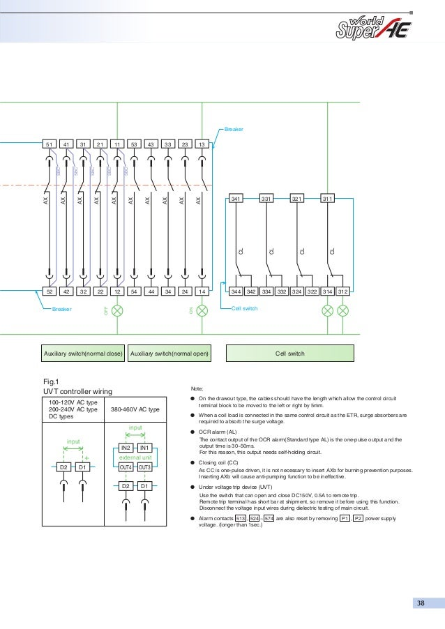 Acb mitsu basic hvac ladder diagrams control circuit connecter (drawout type); 39