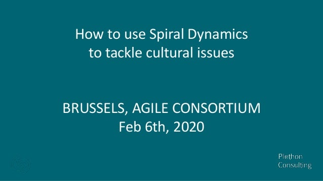How to use Spiral Dynamics to tackle cultural issues BRUSSELS, AGILE CONSORTIUM Feb 6th, 2020