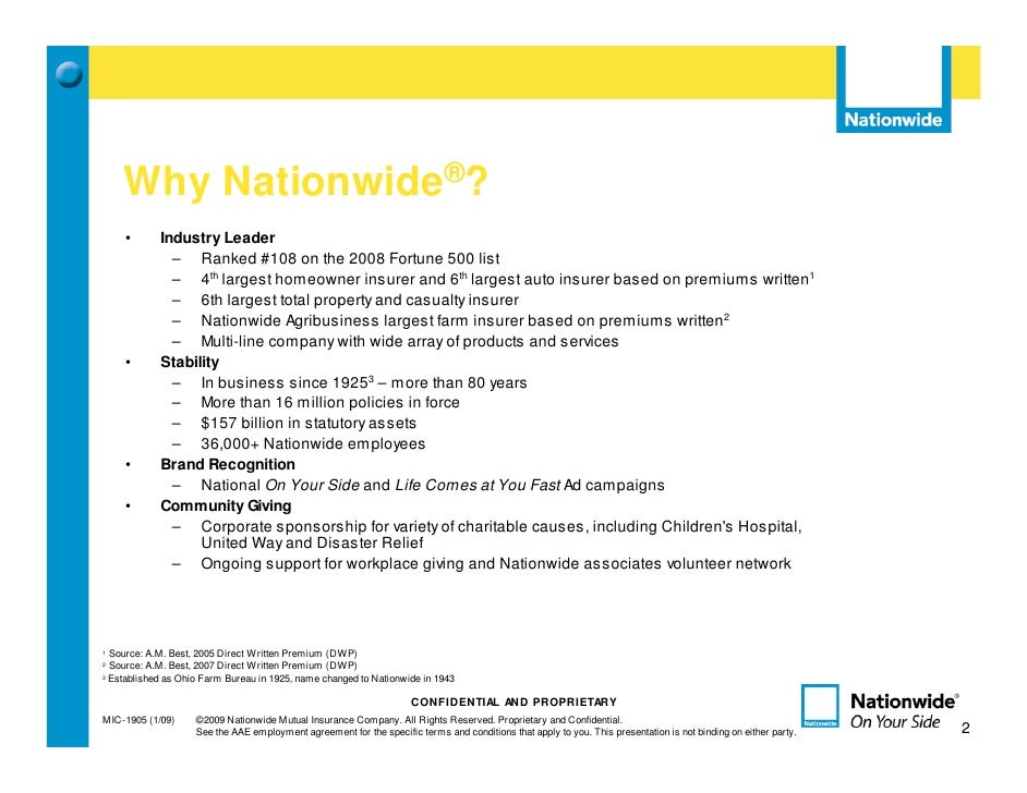 nationwide insurance powerpoint template  ACB Recruiting Presentation 07272009
