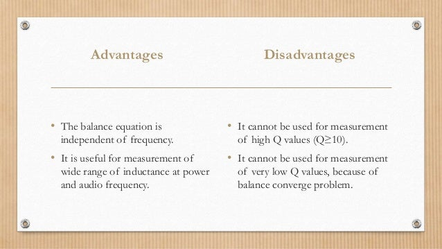 Disadvantages of schering bridge ppt