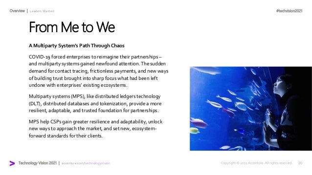 #techvision2021 Technology Vision 2021 | accenture.com/technologyvision Overview | Leaders Wanted From Me to We A Multipar...