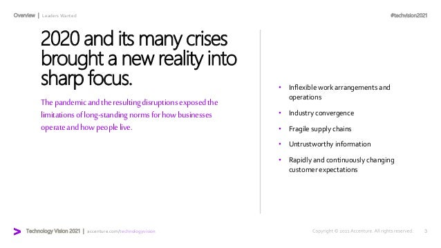 Communications Technology Vision 2021 Slide 3