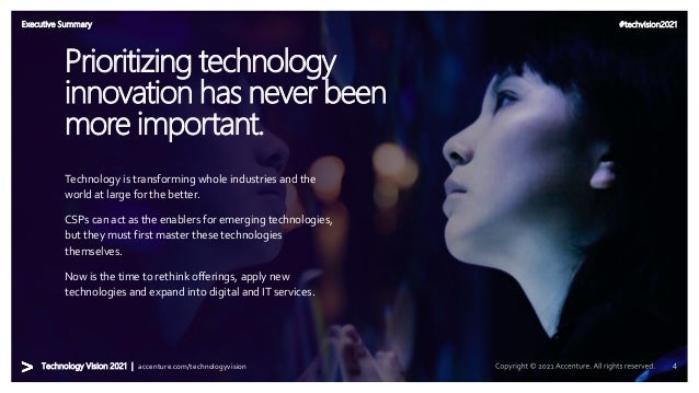 #techvision2021 Technology Vision 2021 | accenture.com/technologyvision Overview | Leaders Wanted Technology is transformi...