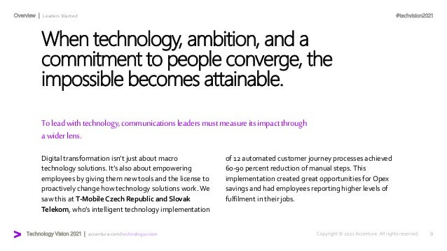 #techvision2021 Technology Vision 2021 | accenture.com/technologyvision Overview | Leaders Wanted Toleadwithtechnology,com...