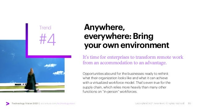 Technology Vision 2021 | accenture.com/technologyvision It's time for enterprises to transform remote work from an accommo...