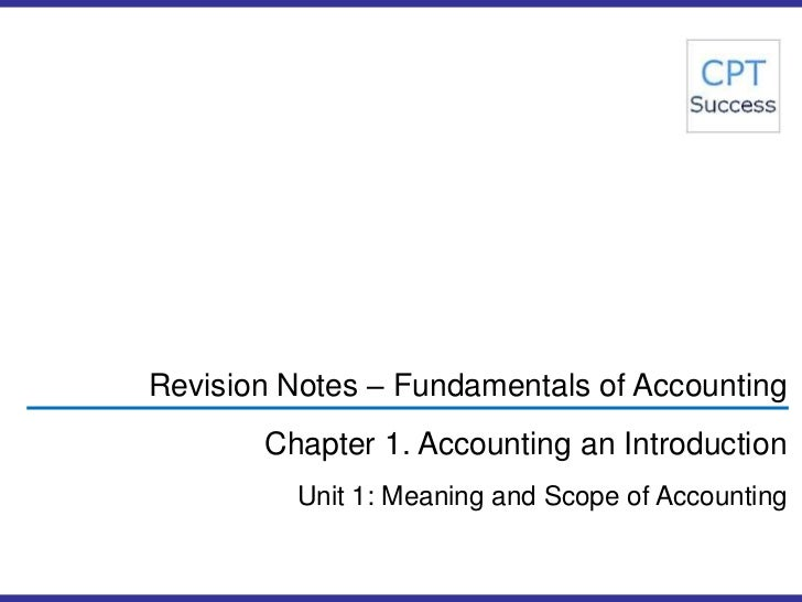 introduction and definition of accounting terms The following relevant aspects of the definition of accounting: ○ economic events   it means the accounting for the resources of the nation as a whole such as.