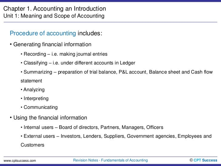 Definition and scope of accounting