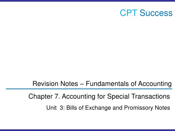 Acc0703 bills of exchange promissory notes cptsuccessbr revision notes fundamentals of accountingbr chapter altavistaventures Choice Image