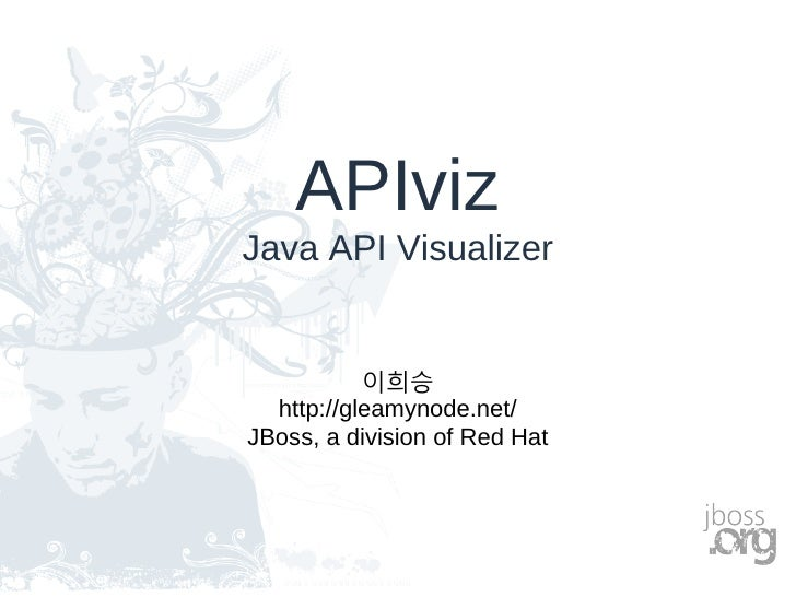 APIviz Java API Visualizer              이희승   http://gleamynode.net/ JBoss, a division of Red Hat
