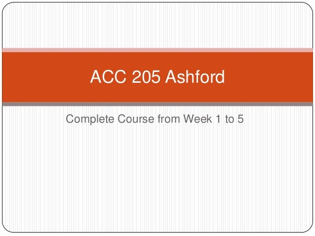 acc 205 Acc 205 entire course (assignments – dqs – dqs journal – and 4 finals) new if you want to purcahse a+ work then click the link below for instant down.