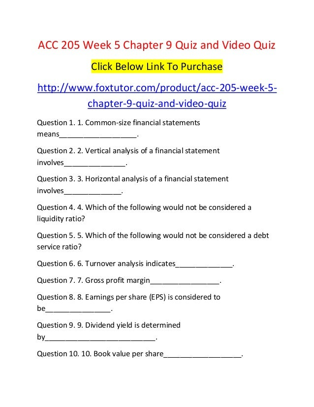 quiz chapter 9 acc 156 Study managerial accounting discussion and chapter questions and find managerial accounting study guide questions and answers.