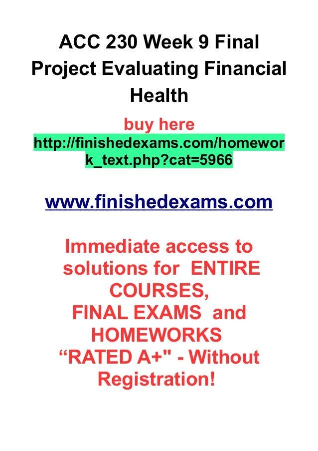 Common Final Examinations
