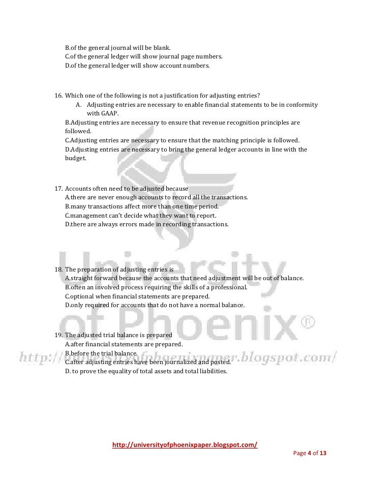 acc 280 final exam 24 in preparing closing entries docx