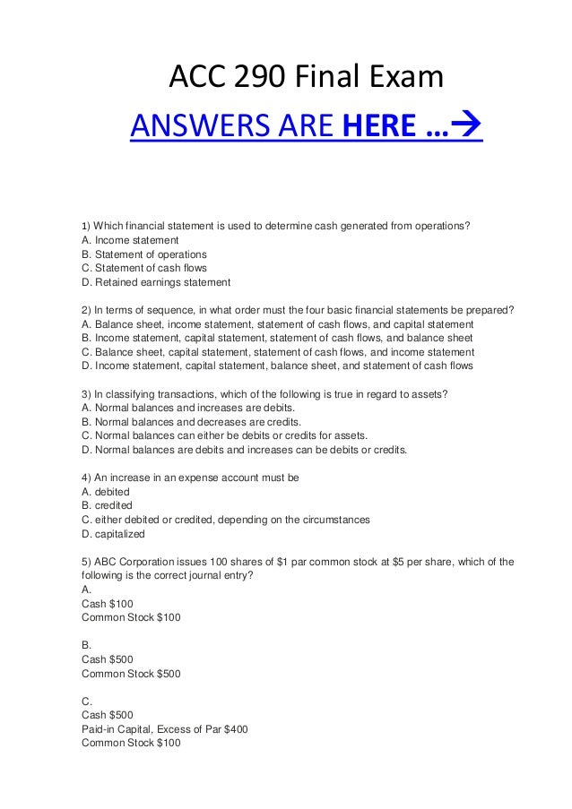 acc 290 Essays - largest database of quality sample essays and research papers on acc 290 problem 3 5a.