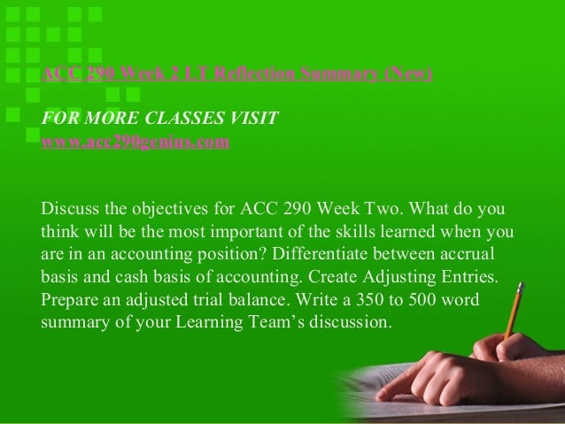 acc 290 summary question one Nr505 advanced research methods: evidence-based practice  your paper should be one document research summary table  acc 290 acc 291 acc 300 acc.