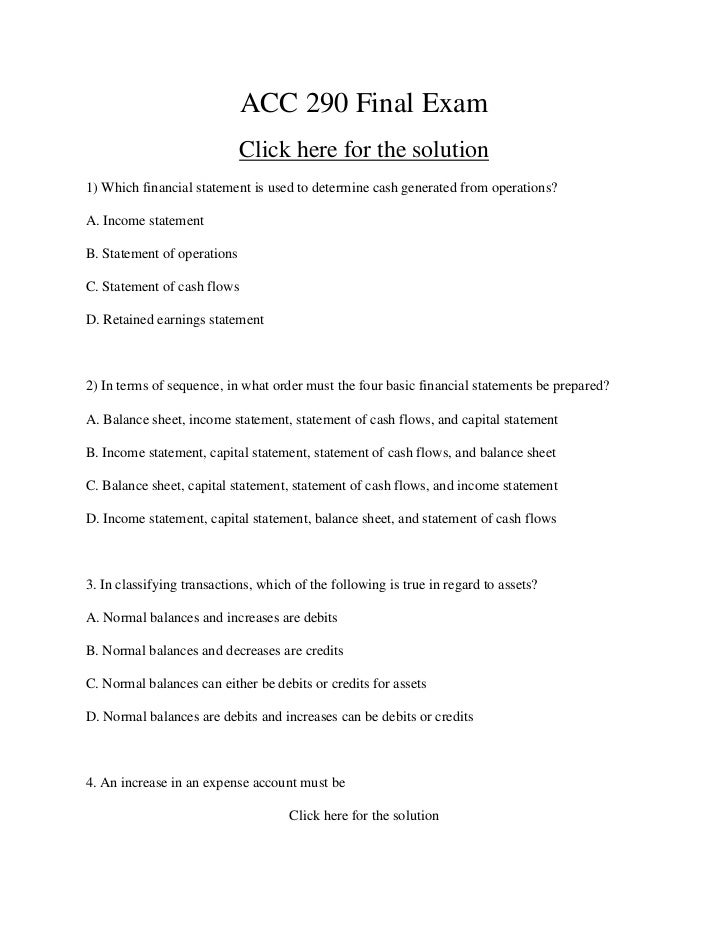 acc 491 final test Acc491 wk 4 dq questions the auditing population is the whole set of data for auditors to test in order to reach their final auditing conclusion.