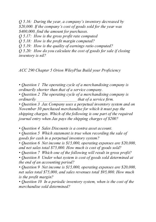 acc 290 cost of goods sold checkpoint Xacc 290 week 8 answer guide xacc 290 is a grueling 9 week introduction into financial accounting this fast paced course has students learning the basics of financial statements, the accounting cycle, and journal entries, and much more.