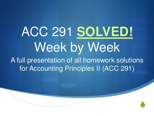 acc 291 week one practice Acc/291 week 1 practice quiz what type of receivable is evidenced by a formal instrument and normally requires the payment of interest when is a receivable recorded by a service organization which of the following is the value at which loans and receivables should be reported under ifrs short-term notes receivable are reported at their cash (net) realizable value.