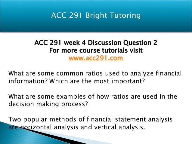 ACC 291 WileyPLUS Week Four Assignment Exercise E11 16
