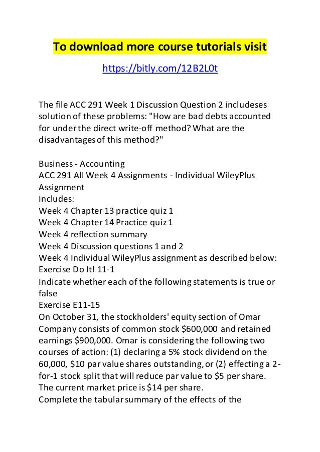 acc 291 week 2 discussion questions Get homework help for acc291 principles of accounting ii at university  discussion questions,  more about acc291 week 2 practice quiz [] posted in acc 291,.