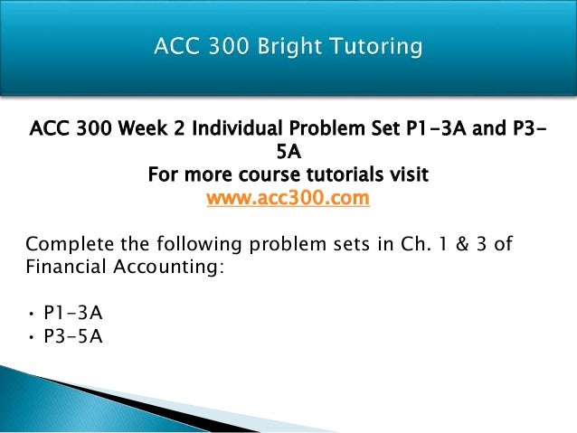 Acc300 Principles of Accounting: Week 3 (P1-30A O'Shea Enterprises and M3-2 Mostert Music Company)