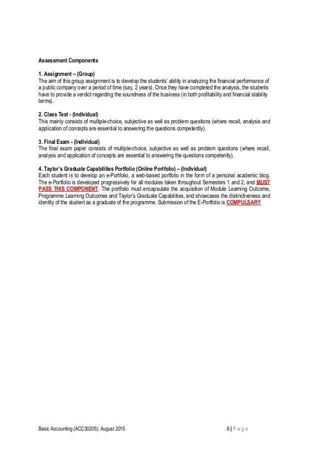 Assessment Components 1. Assignment – (Group) The aim of this group assignment is to develop the students' ability in anal...