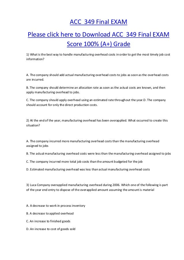 acc 349 final exam Tutorialrank is a online tutorial store we provides acc 349 final exam guide (uop course.