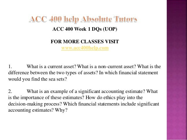 acc week 1 current noncurrent assets Question acc 400 week 1 individual assignment current and noncurrent assets paper prepare a 700- to 1,050-word paper comparing and contrasting current and noncurrent assets.