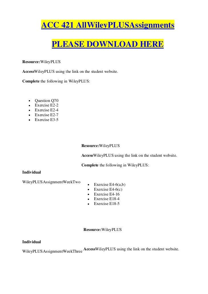 ACC 421 Week 3 Assignment CA 4-2, Problem 18-3, Problem 18-2