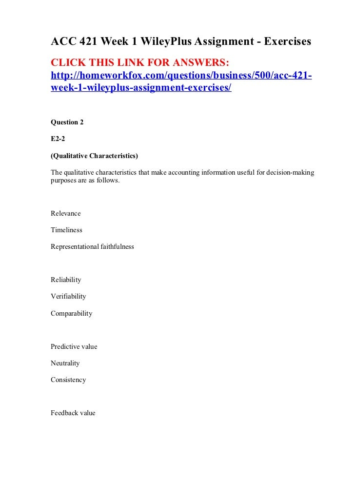 Week 1 ecm assignment