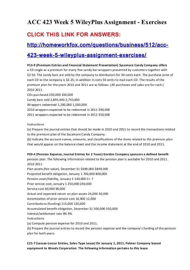 ACC 291 Final Exam Solution Tutorial: Part 1