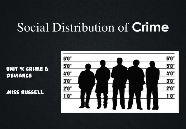 Social Distribution of Crime Unit 4: Crime & Deviance Miss Russell