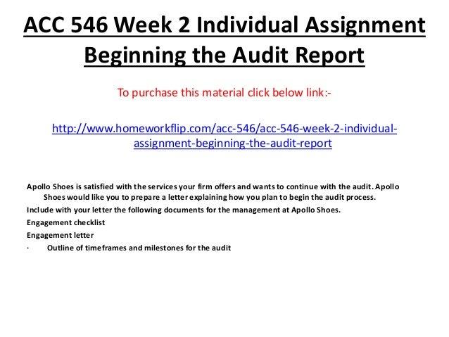 Beginning audit report