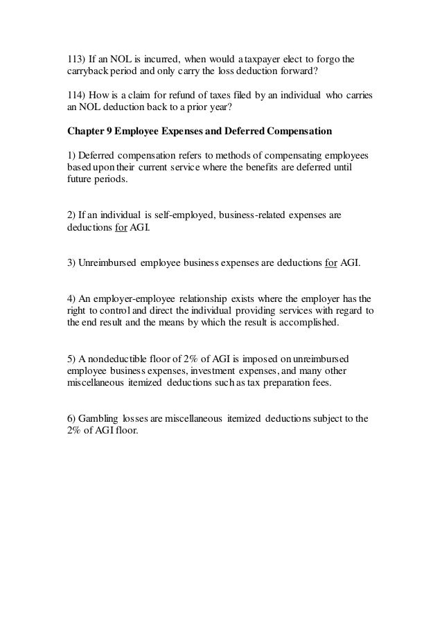 Acc 555 week 11 final exam strayer new – Unreimbursed Employee Expense