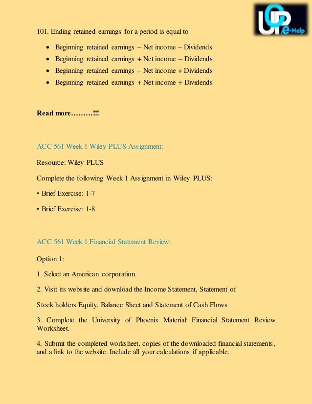final exam acc 561 the statement of cash flows is used for Acc 557 financial accounting final exam part 2 answers  what is the net cash provided (used)  the primary purpose of the statement of cash flows is to.