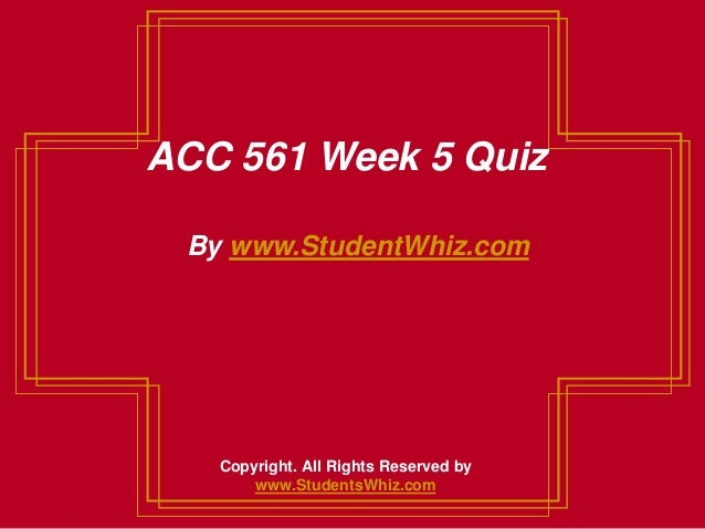 be week 5 acc 561 View homework help - acc-561-week 5-cvp analysisdocx from acc 561 at  university of phoenix 1 cost-volume-profit analysis dawn creech acc/561.