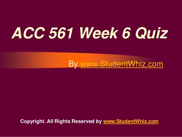 Eco 561 week 6 quiz free