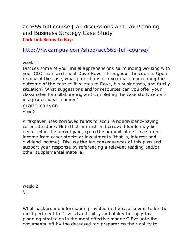 case study online course