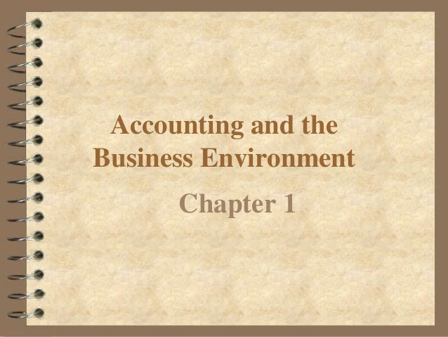 CHAPTER 1: Basic Accounting Environment - YouTube