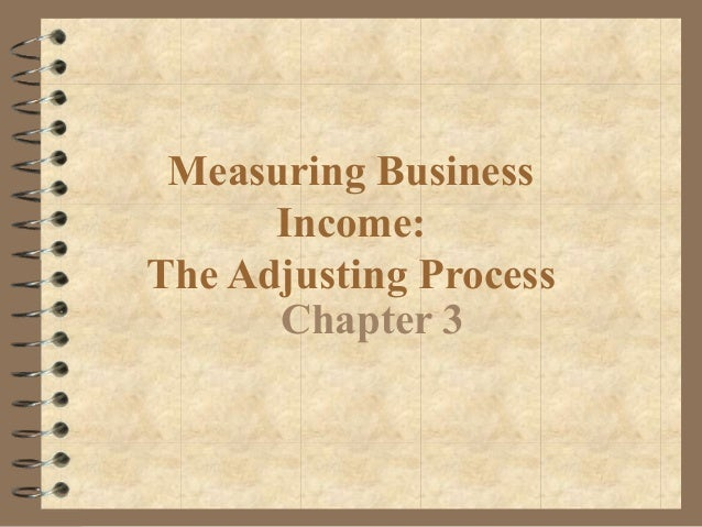 Measuring Business Income: The Adjusting Process Chapter 3