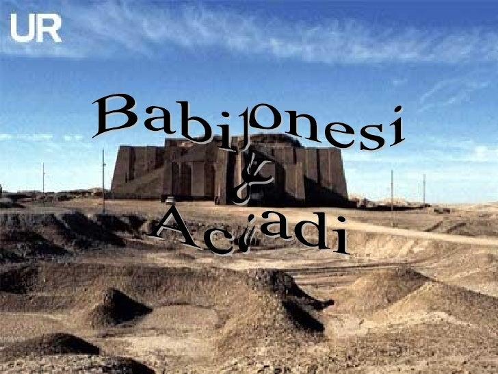Babilonesi  &  Accadi