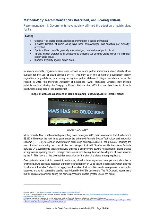 Better on the Cloud: Financial Services in Asia Pacific 2021 | Page 25 of 94 Methodology: Recommendations Described, and S...