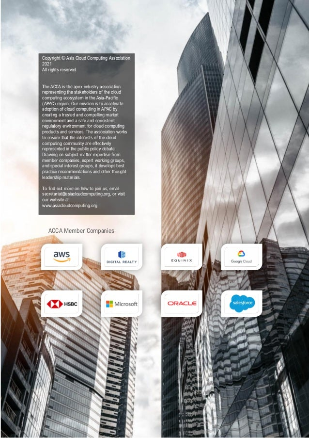 ACCA Better on the Cloud:  Financial Services in Asia Pacific 2021