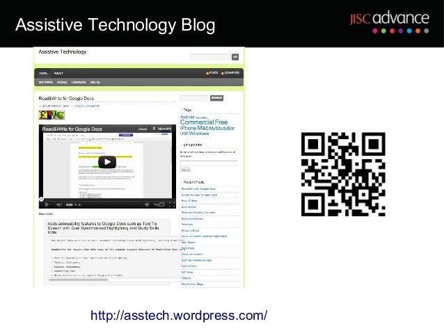 Assistive Technology Blog         http://asstech.wordpress.com/