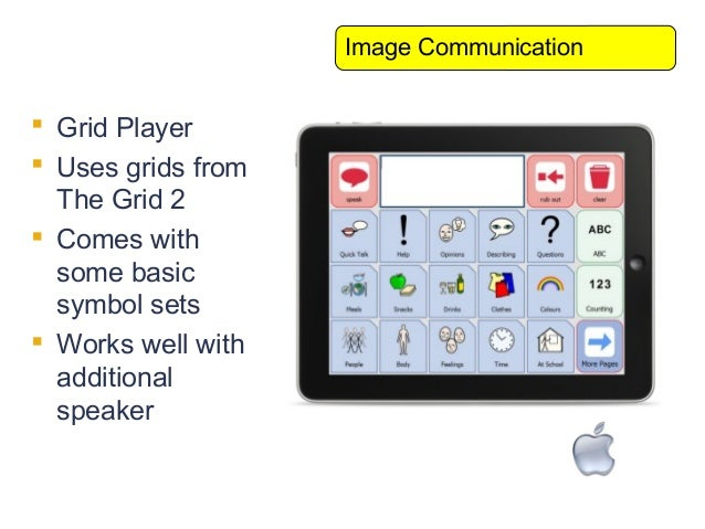 Image Communication Grid Player Uses grids from  The Grid 2 Comes with  some basic  symbol sets Works well with  addit...