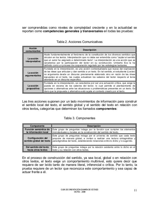 Para dar cuenta de dicha característica textual, se han propuesto los siguientes niveles de lectura:  Tabla 4. Niveles de ...