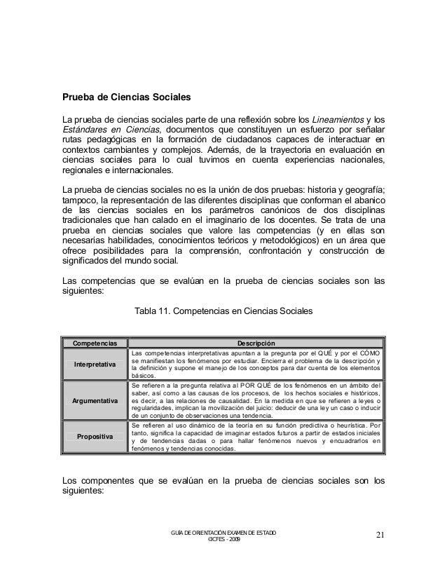 Tabla 12. Componentes en Ciencias Sociales  Componentes  Descripción  El espacio, el territorio, el ambiente y la població...