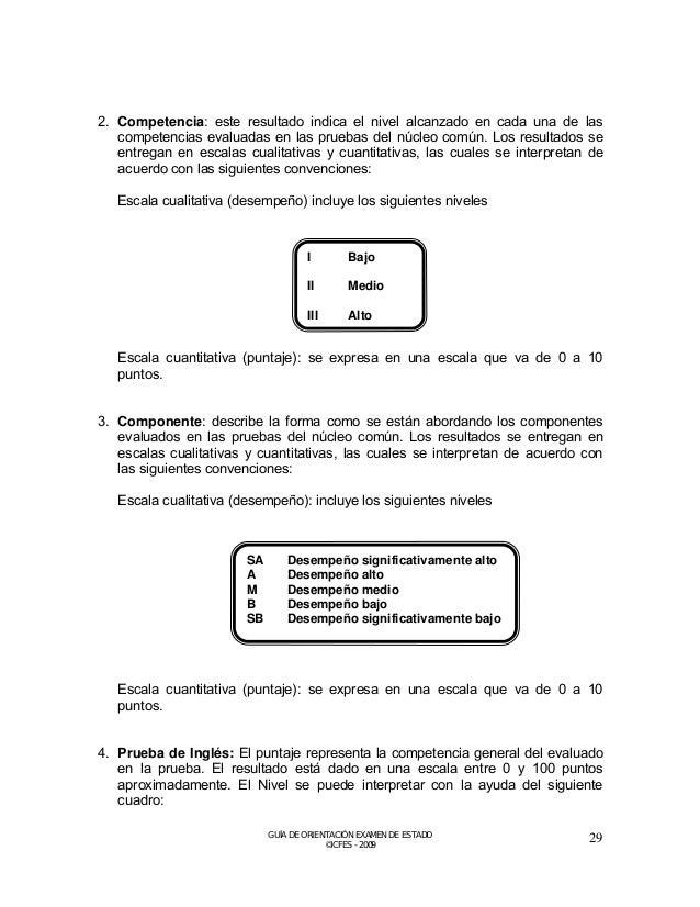 COMPONENTE FLEXIBLE  5. Grado de profundización: indica el desempeño del estudiante en la prueba que eligió como profundiz...