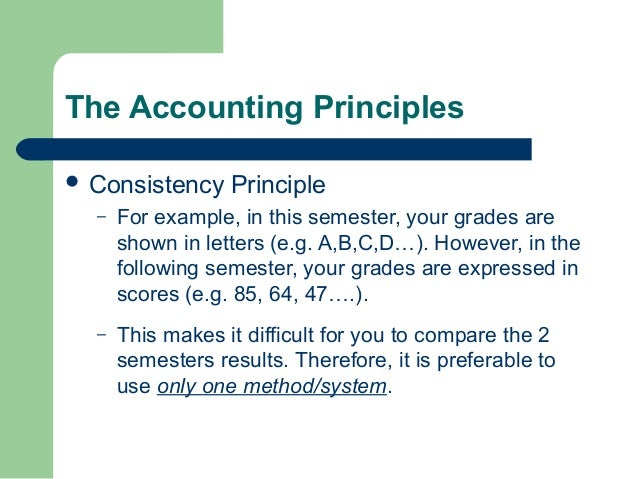Accounting concepts.